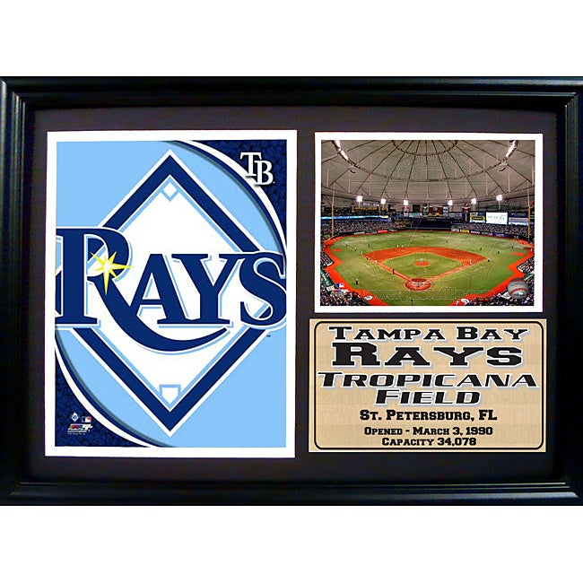 official photos 43a0c 6f74f Tampa Bay Rays Team Logo Photo Stat Frame