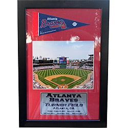Atlanta Braves Turner Field Pennant Frame