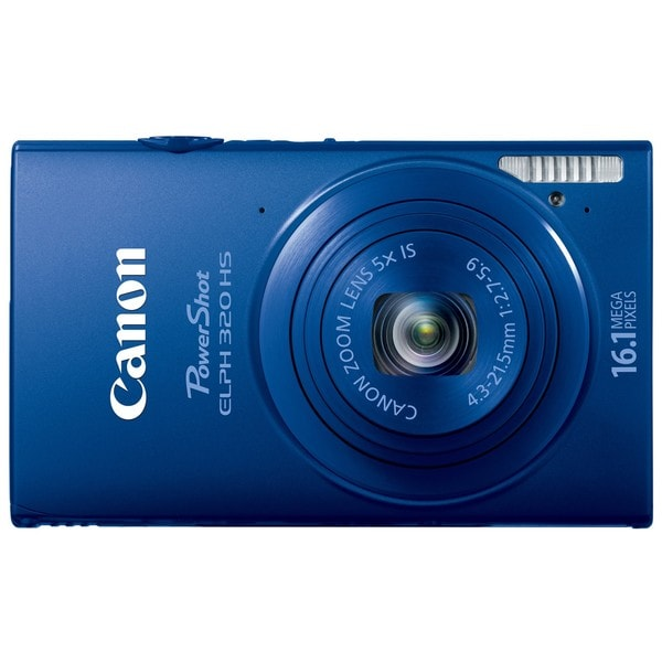 Canon PowerShot ELPH 320HS 16.1MP Blue Digital Camera