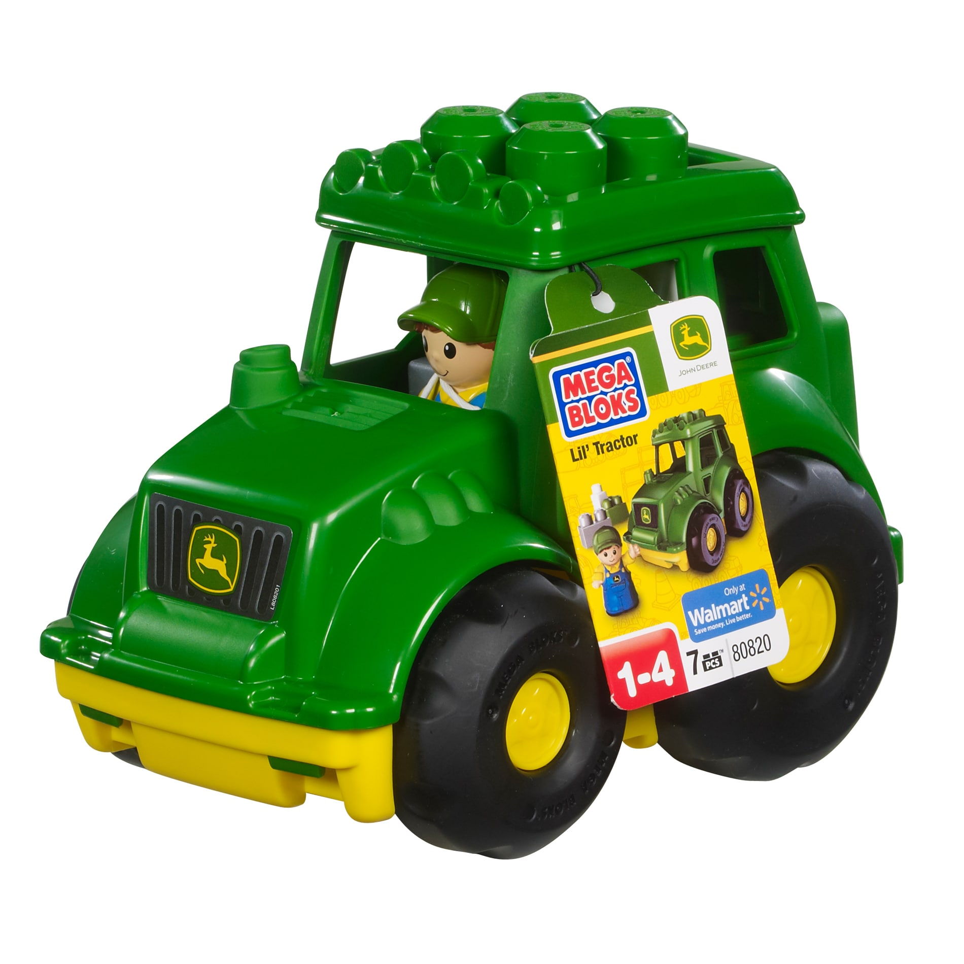 Mega Bloks John Deere Little Vehicle Play Set - Thumbnail 0