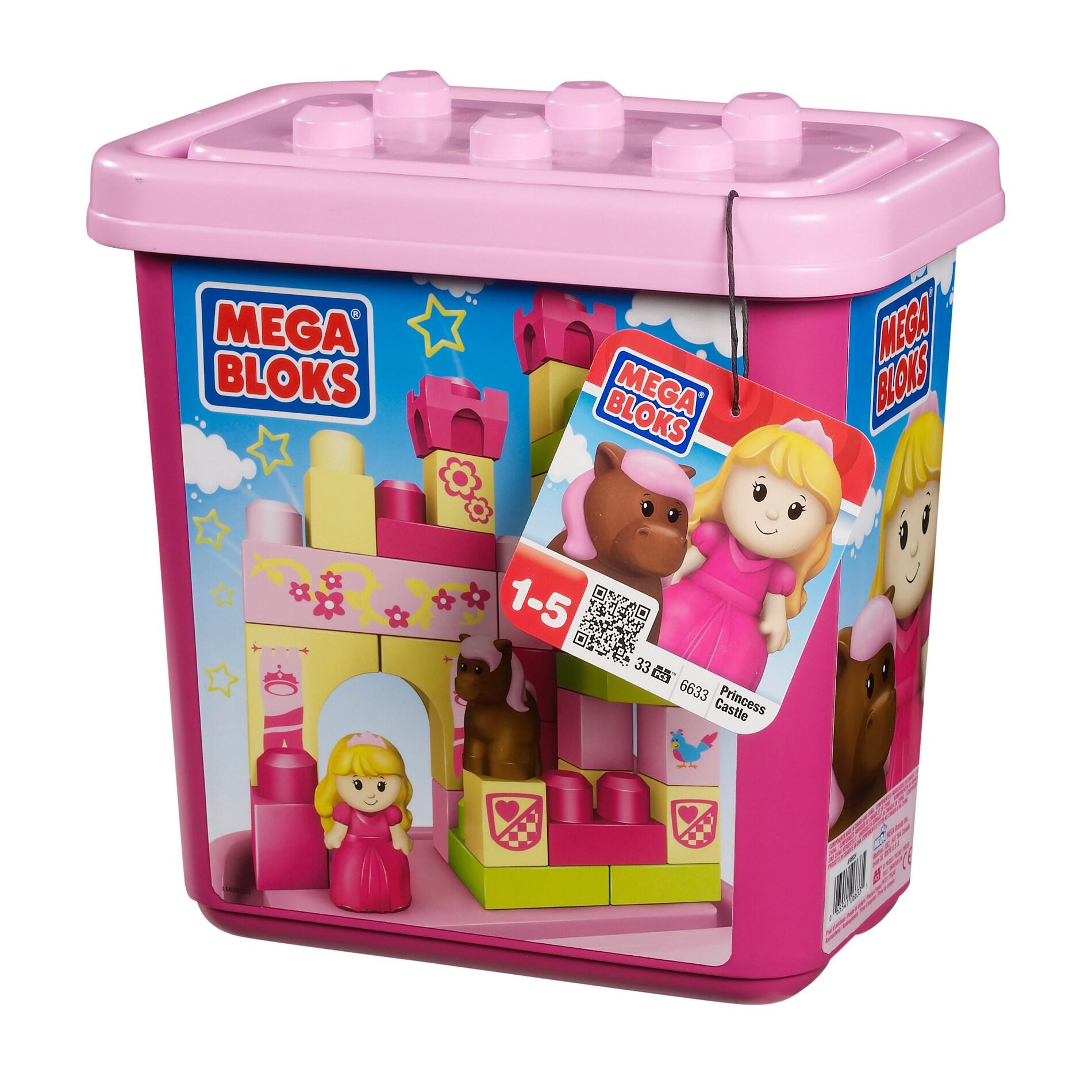 Mega Bloks Princess Castle Small Tub Play Set