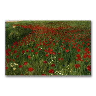 Pal Szinyei Merse 'The Poppy Feild, 1896' Large Canvas Art