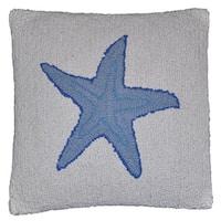 Starfish Wool Hooked Pillow