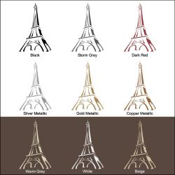 Vinyl Letter Decor Eiffel Tower Indoor-matte-vinyl Wall Decal - Thumbnail 2
