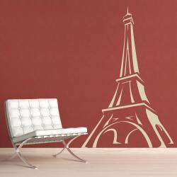 Vinyl Letter Decor 'Eiffel Tower' 48-inch Vinyl Wall Decal - Thumbnail 1