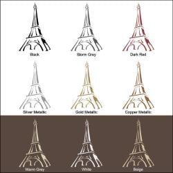 Vinyl Letter Decor 'Eiffel Tower' 48-inch Vinyl Wall Decal - Thumbnail 2