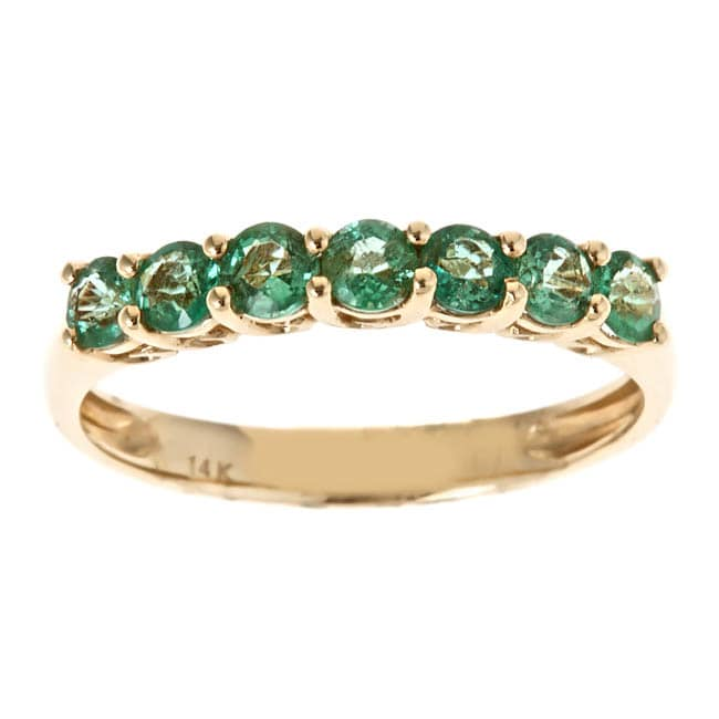 D'Yach 14k Yellow Gold Zambian Emerald Ring