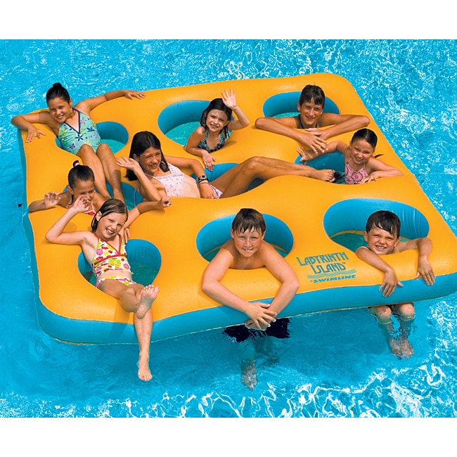 Swimline Labyrinth Island Inflatable Pool Toy - Thumbnail 0