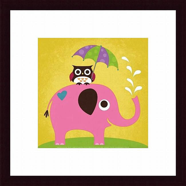Shop Nancy Lee \'Elephant and Owl with Umbrella\' Framed Print - Free ...