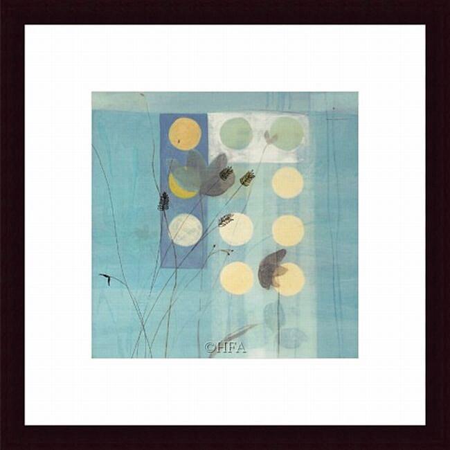 Fernando Leal 'Flower Dance I' Framed Print