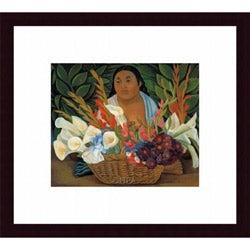 Diego Rivera 'Flower Seller' Framed Print