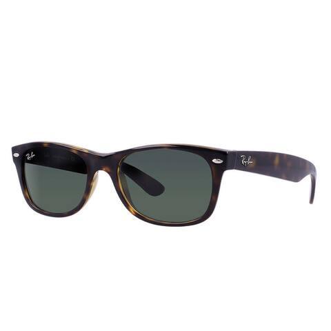 Ray-Ban New Wayfarer RB2132 Unisex Havana Frame Green Lens Sunglasses
