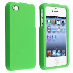 BasAcc Light Green Snap-on Case/ Screen Protector for Apple iPhone 4 - Thumbnail 1