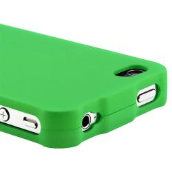 BasAcc Light Green Snap-on Case/ Screen Protector for Apple iPhone 4 - Thumbnail 2
