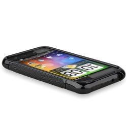 INSTEN Frost Black TPU Phone Case Cover for HTC Droid Incredible S/ 2