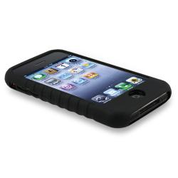 INSTEN Black Soft Silicone Phone Case Cover/ Armband for Apple iPhone 3G/ 3GS - Thumbnail 2