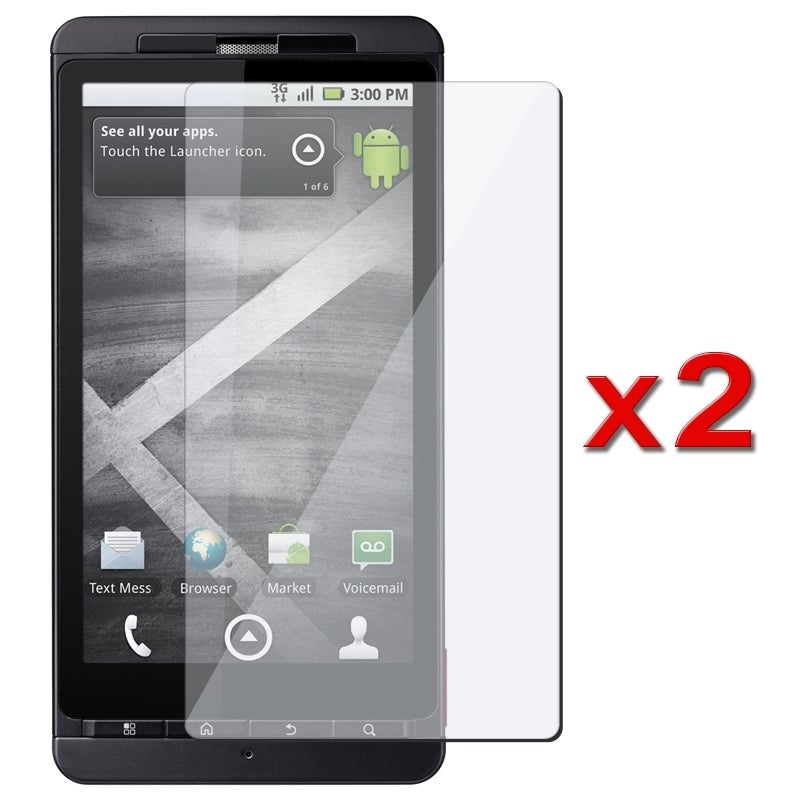 INSTEN Clear Screen Protector for Motorola Droid X MB810 (Pack of 2)