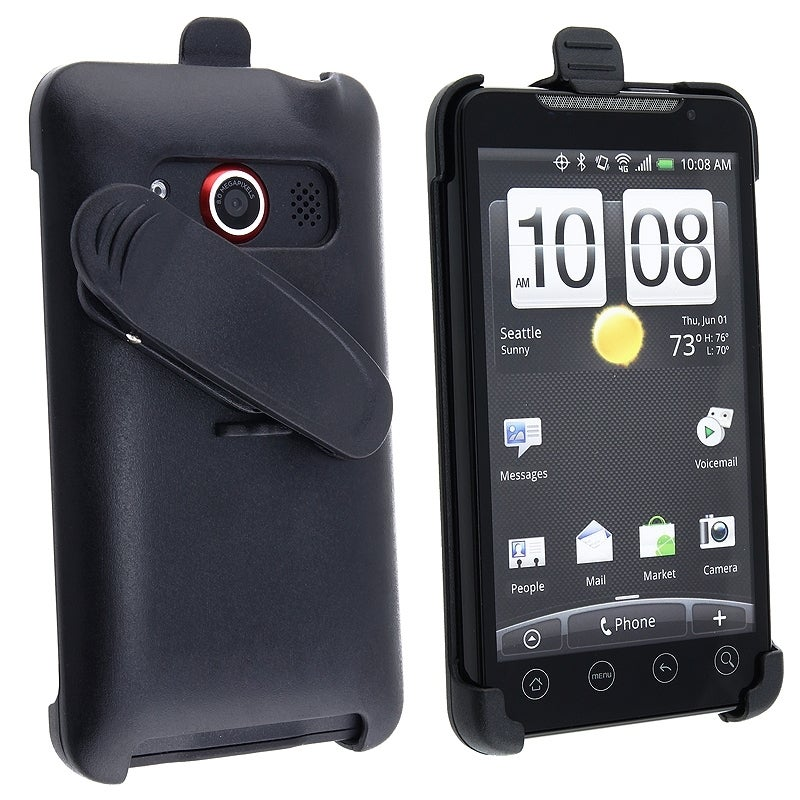 BasAcc Black Swivel Holster for HTC EVO 4G
