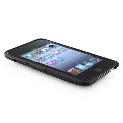 INSTEN Black Rubber Phone Case Cover for Apple iTouch Gen 2G/ 3G - Thumbnail 1