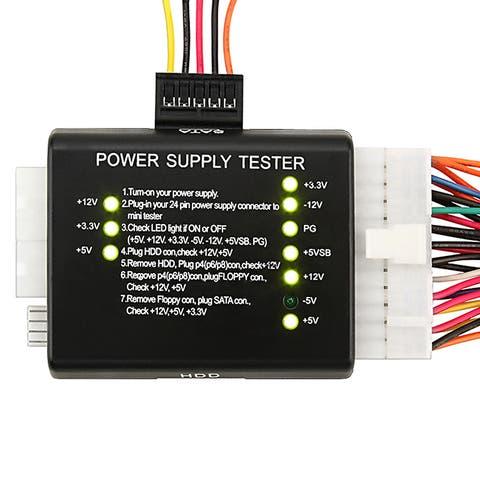 INSTEN Black 20/ 24 Power Supply Tester for ATX/ SATA/ HDD
