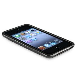 INSTEN Frost Clear/ Black TPU iPod Case Cover for Apple iPod Touch Generation 4