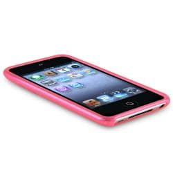 INSTEN Frost Hot Pink TPU iPod Case Cover for Apple iPod Touch Generation 4 - Thumbnail 2