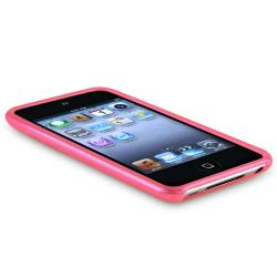 INSTEN Frost Hot Pink TPU iPod Case Cover for Apple iPod Touch Generation 4