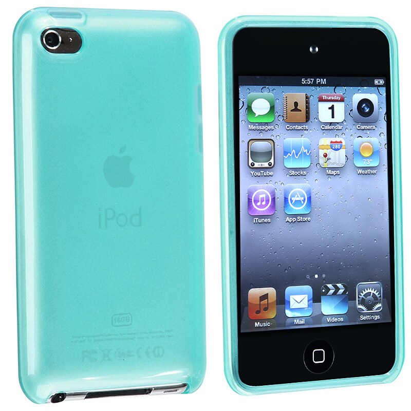 INSTEN Frost Light Blue TPU iPod Case Cover for Apple iPod Touch Generation 4
