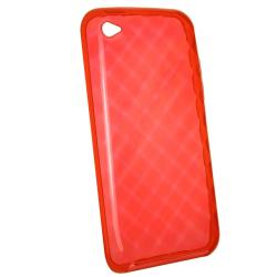 BasAcc Clear Red Diamond TPU Case for Apple iPod Touch Generation 4 - Thumbnail 1