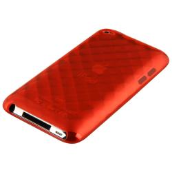 BasAcc Clear Red Diamond TPU Case for Apple iPod Touch Generation 4 - Thumbnail 2