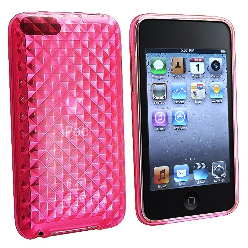 INSTEN Hot Pink Diamond TPU iPod Case Cover for Apple iPod Touch Generation 2/ 3