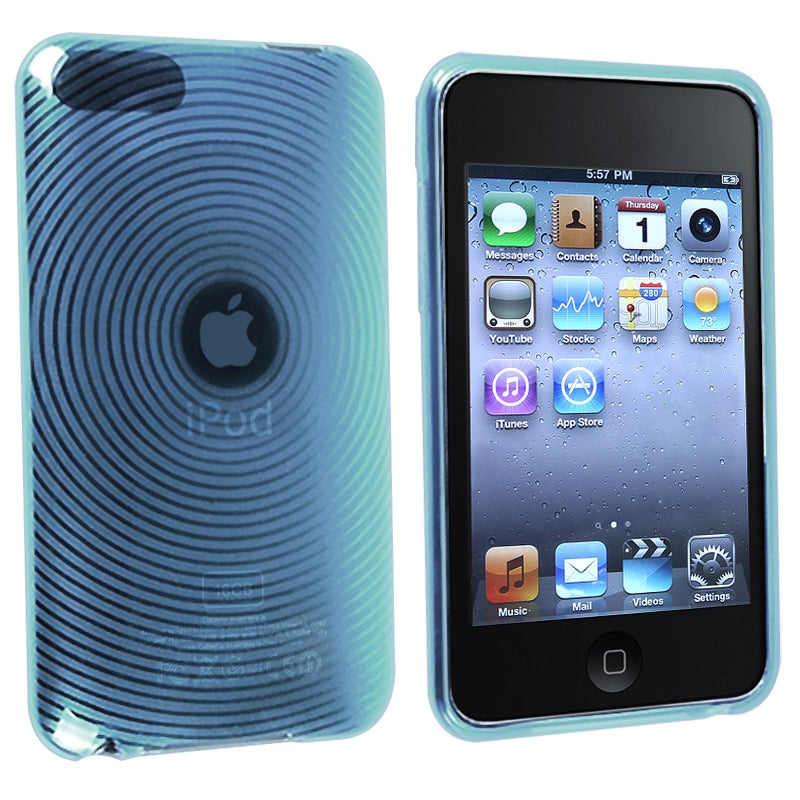 INSTEN Clear Blue Circle TPU iPod Case Cover for Apple iPod Touch Generation 2/ 3