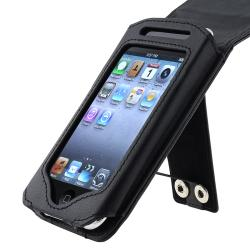 INSTEN Black Leather iPod Case Cover for Apple iPod Touch 2nd/ 3rd Generation
