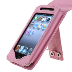 INSTEN Pink Leather iPod Case Cover for Apple iPod Touch 2nd/ 3rd Generation