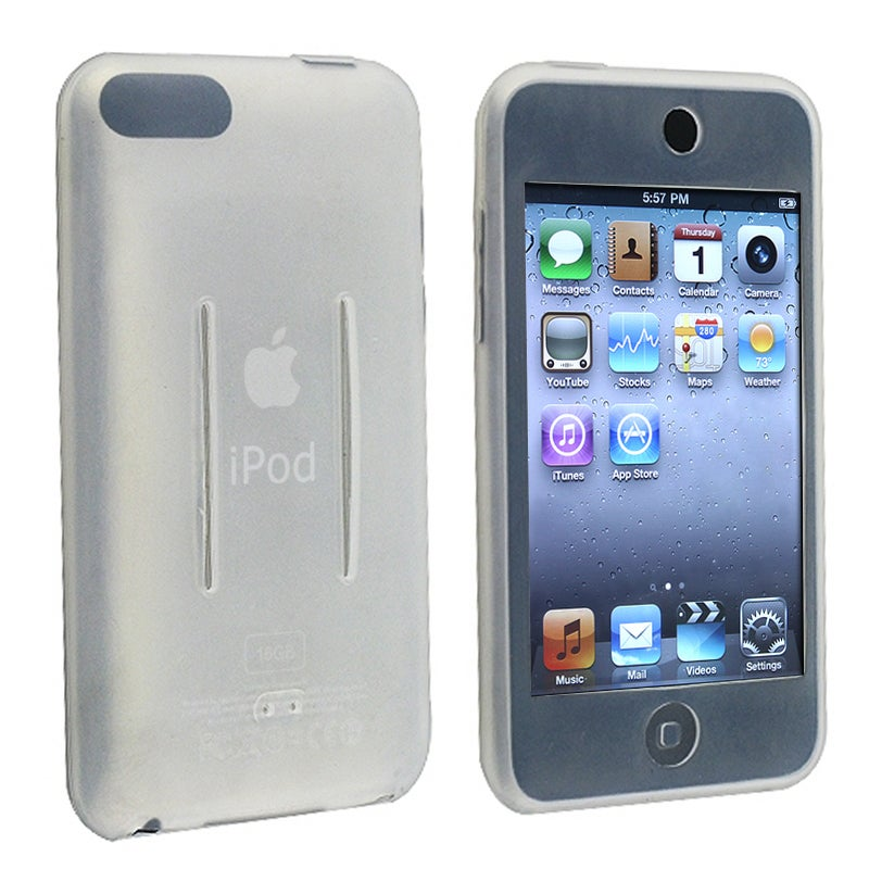INSTEN White Soft Silicone Skin iPod Case Cover for Apple iPod Touch Generation 2/ 3