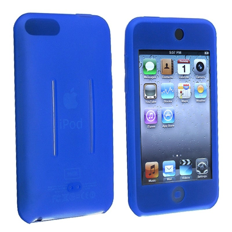 INSTEN Dark Blue Soft Silicone iPod Case Cover for Apple iPod Touch Generation 2/ 3