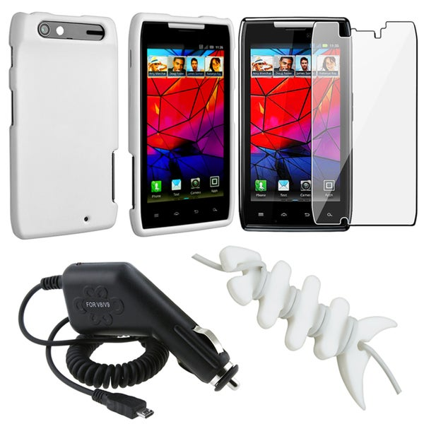 INSTEN Case Cover/ Screen Protector/ Wrap/ Charger for Motorola Droid Razr XT912