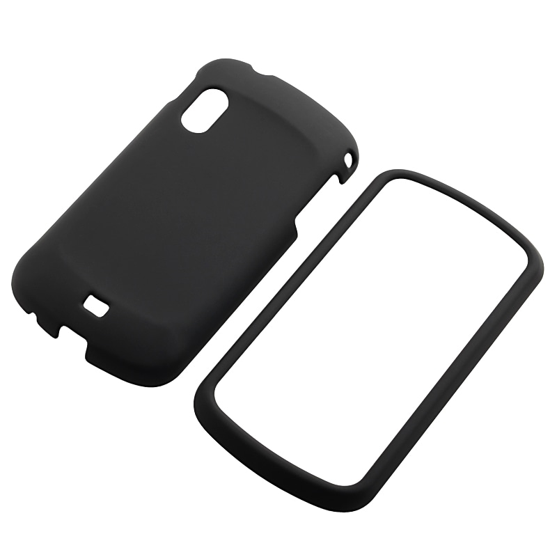 INSTEN Black Snap-on Rubber Coated Phone Case Cover for Samsung Stratosphere SCH-i405