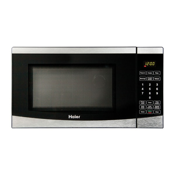 Haier 0 7 Cu Ft 700w Microwave Stainless Steel Free