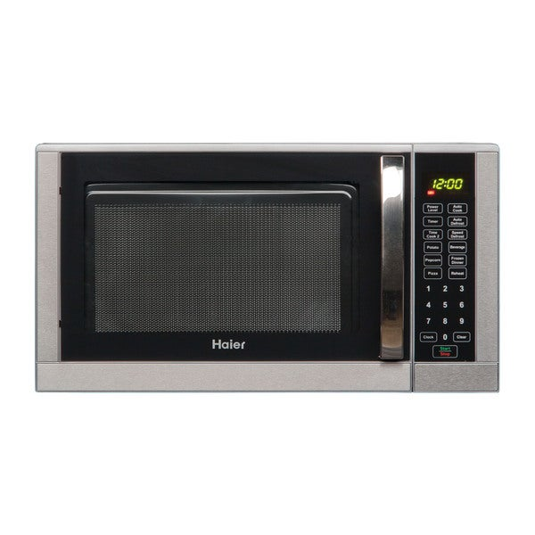 Haier 0.9 Cu. Ft. 900W Microwave Stainless Steel