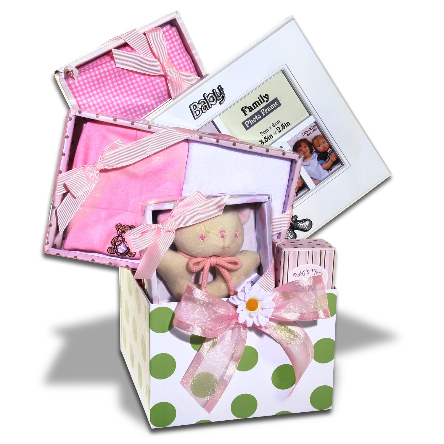Alder Creek Gifts Keepsake Baby Girl Gift Basket
