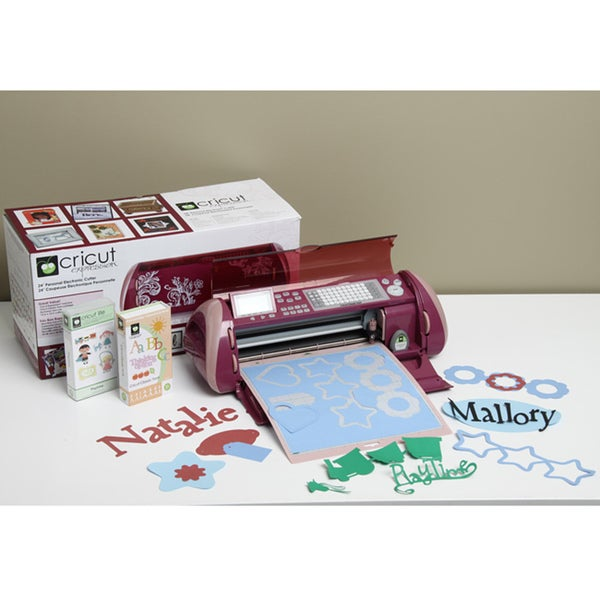 shop cricut expression plum die cutting machine with two cartridges rh overstock com