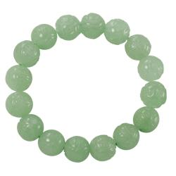 Gems For You Carved Dragon Jade Bead Stretch Bracelet - Thumbnail 1