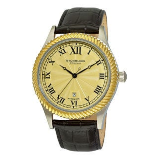 Stuhrling Original Men's Augustus Automatic Leather Strap Watch