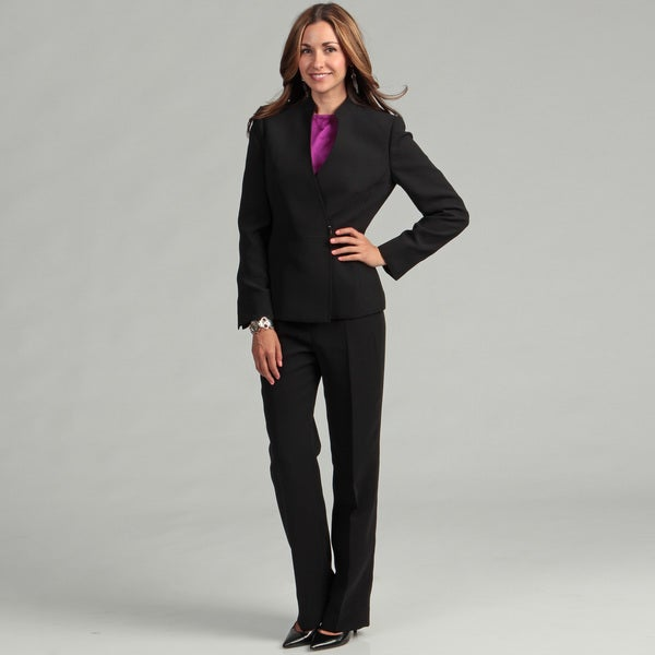 Tahari Women's Black Pant Suit