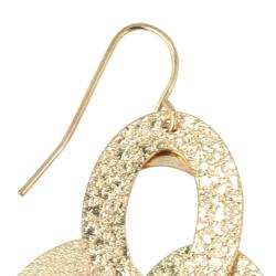 Toscana Collection 14k Gold Overlay Drop Earrings - Thumbnail 1