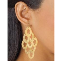 Toscana Collection 14k Gold Overlay Drop Earrings - Thumbnail 2