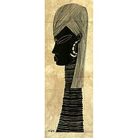 Handmade Heidi Lange Screen Print 'Samburu Warrior' (Kenya)