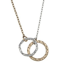 Charming Life Sterling Silver and Goldfill Circles Necklace