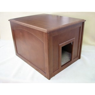 Crown Pet Dog Den Cabinet with Mahogany Finish